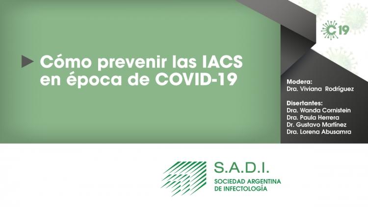 Cómo prevenir las IACS en época de COVID-19