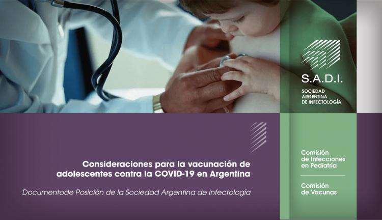 Consideraciones para la vacunación de adolescentes contra la Covid-19 en Argentina.