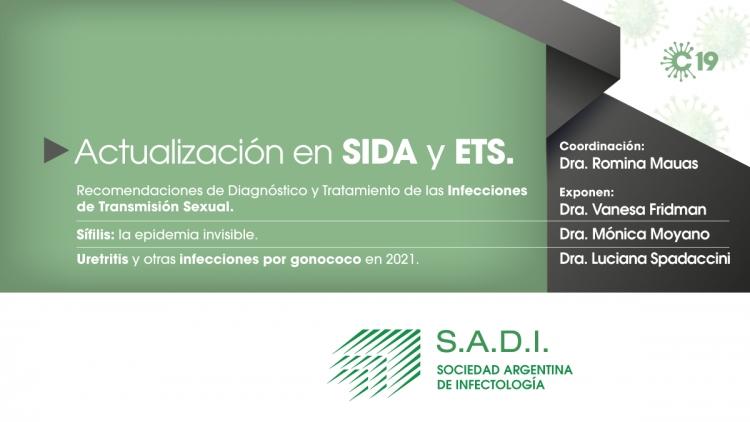 Actualización en SIDA y ETS. Recomendaciones de Diagnóstico y Tratamiento de las Infecciones de Transmisión Sexual.