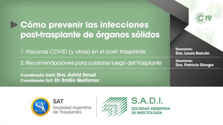 Cómo prevenir las infecciones post-trasplante de órganos sólidos.
