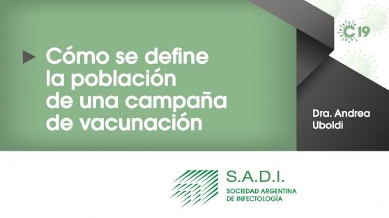 ¿Cómo se define la población de una campaña de vacunación?