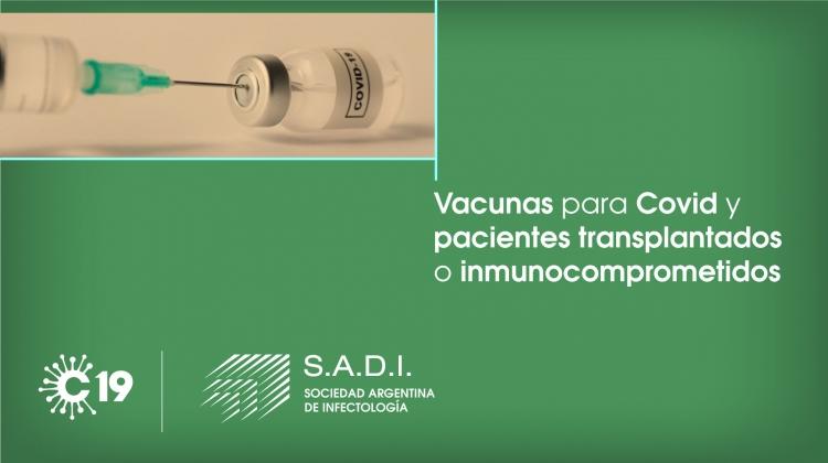 Vacuna para COVID-19 y pacientes trasplantados y/o inmunocomprometidos