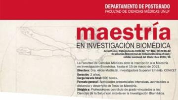 Maestría en investigación biomédica