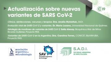 Actualización sobre nuevas variantes de SARS-CoV2