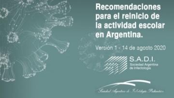 Recomendaciones para el reinicio de la actividad escolar en Argentina
